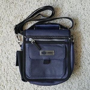 Handbags - NWOT Blue and black crossbody utility bag